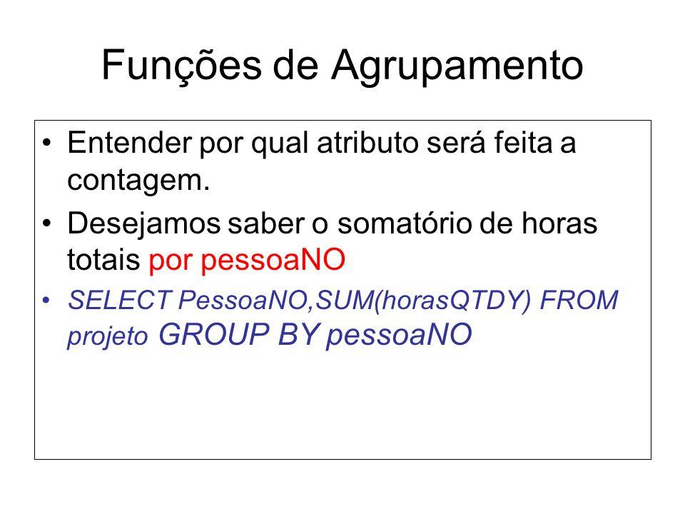 Funções de Agrupamento