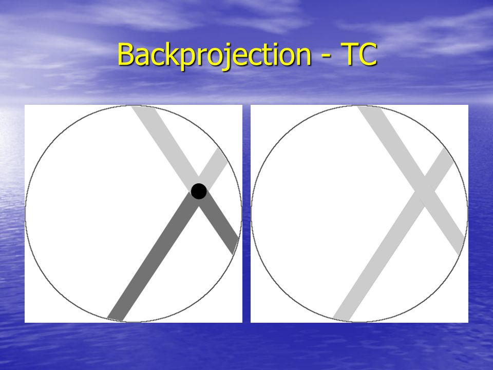 Backprojection - TC