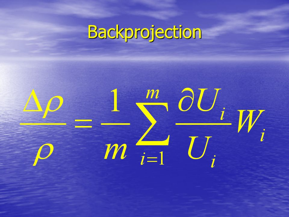 Backprojection