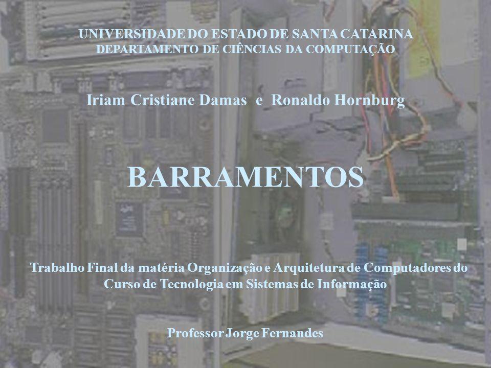 BARRAMENTOS Iriam Cristiane Damas e Ronaldo Hornburg