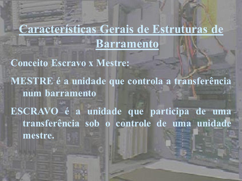 Características Gerais de Estruturas de Barramento