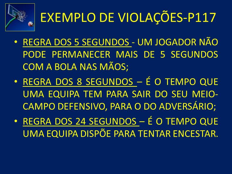 EXEMPLO DE VIOLAÇÕES-P117
