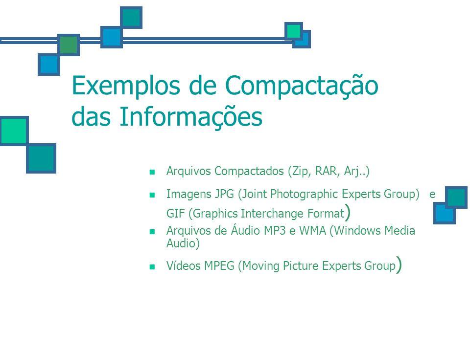 Exemplos de Compactação das Informações