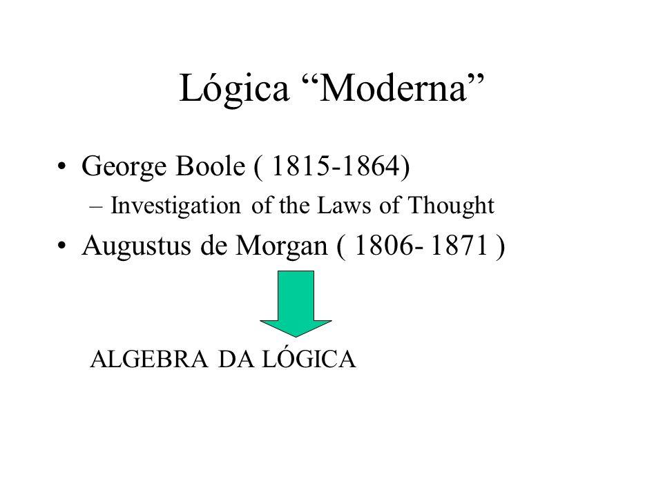 Lógica Moderna George Boole ( 1815-1864)