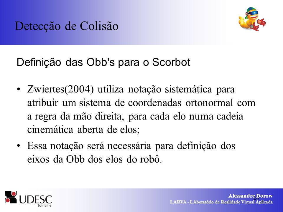 Definição das Obb s para o Scorbot