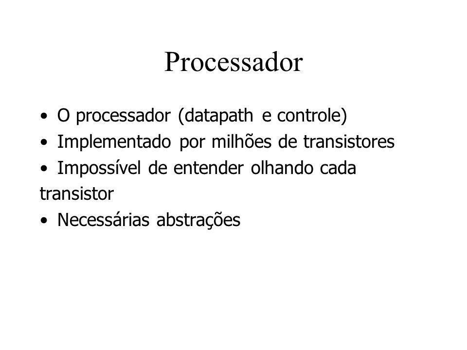 Processador O processador (datapath e controle)