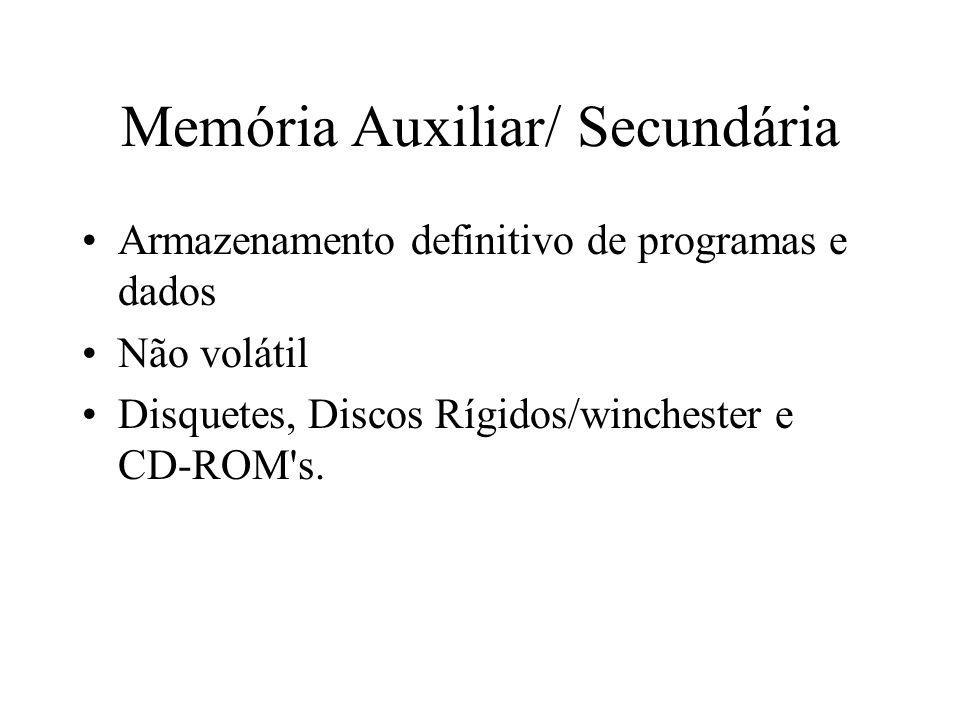 Memória Auxiliar/ Secundária