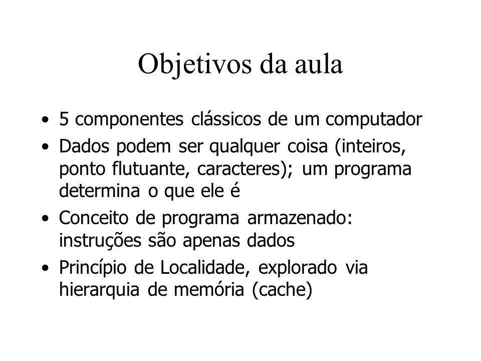 Objetivos da aula 5 componentes clássicos de um computador