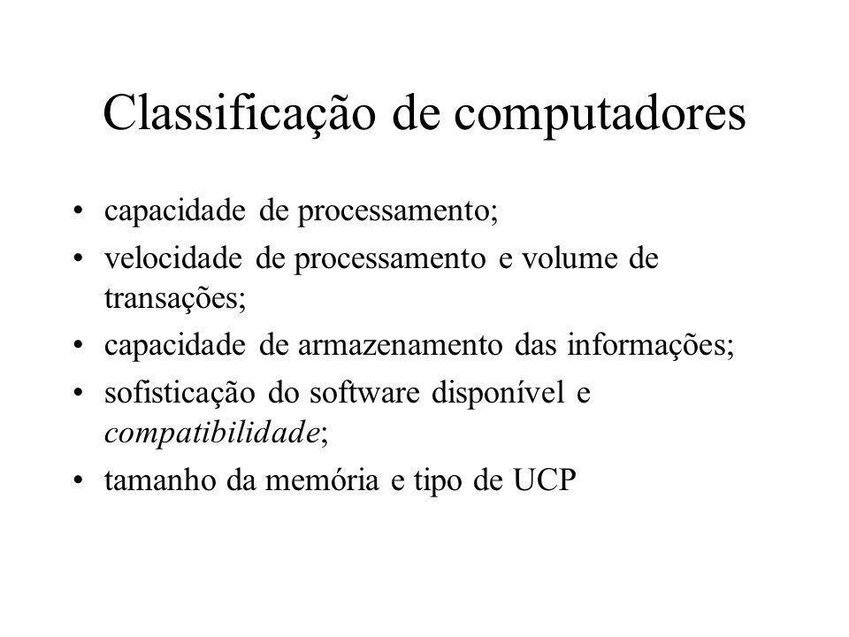 Classificação de computadores