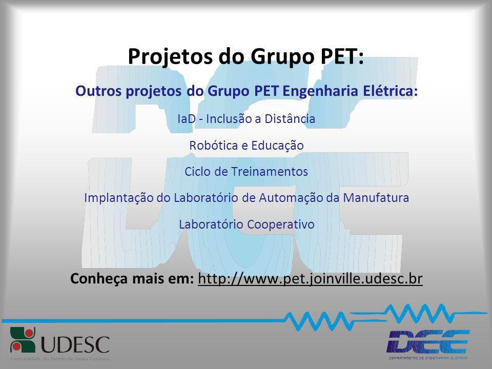 Outros projetos do Grupo PET Engenharia Elétrica:
