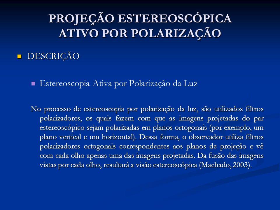 PROJEÇÃO ESTEREOSCÓPICA ATIVO POR POLARIZAÇÃO