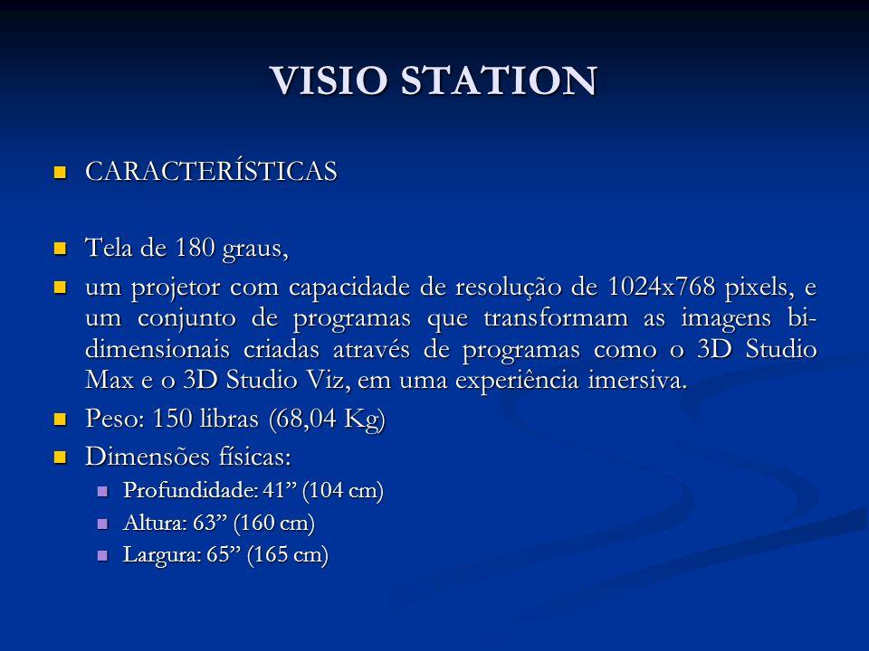 VISIO STATION CARACTERÍSTICAS Tela de 180 graus,