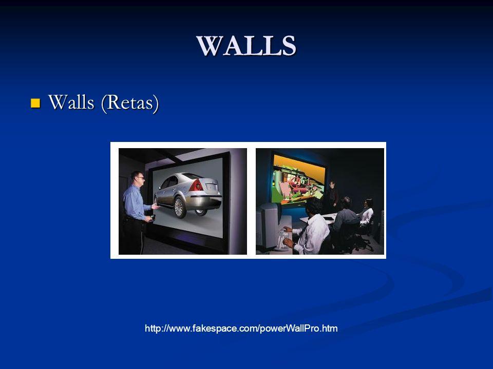 WALLS Walls (Retas) http://www.fakespace.com/powerWallPro.htm