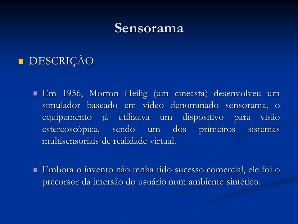 SensoramaDESCRIÇÃO.