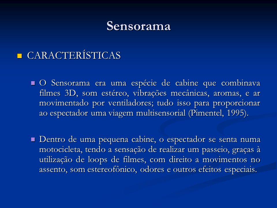 Sensorama CARACTERÍSTICAS