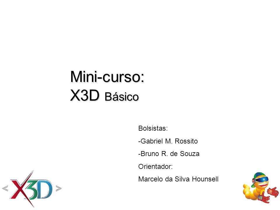 Mini-curso: X3D Básico Bolsistas: -Gabriel M. Rossito
