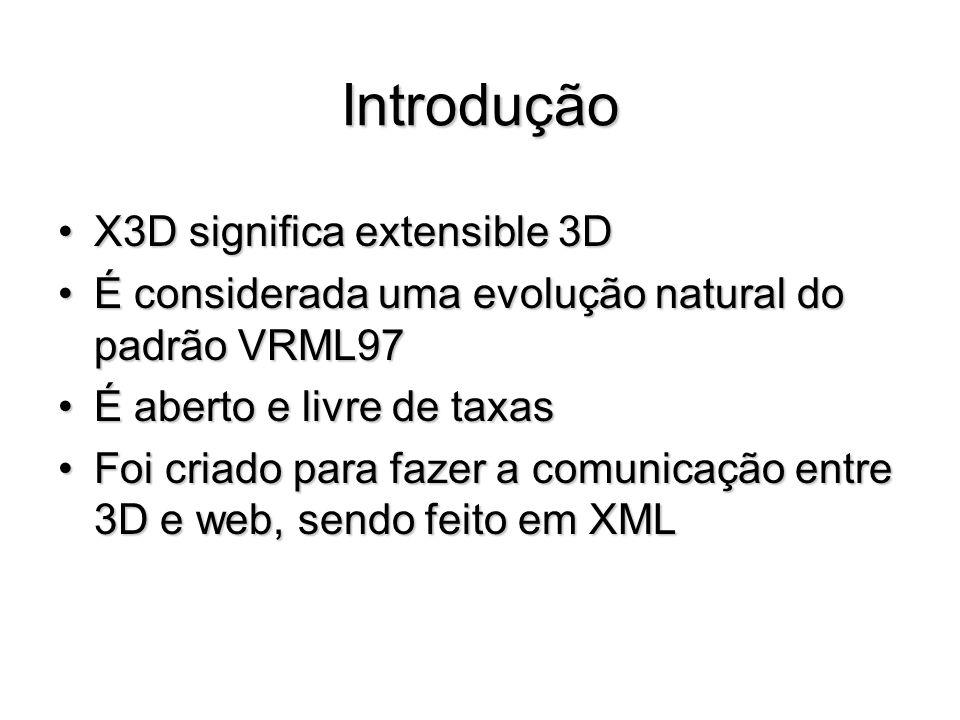 Introdução X3D significa extensible 3D