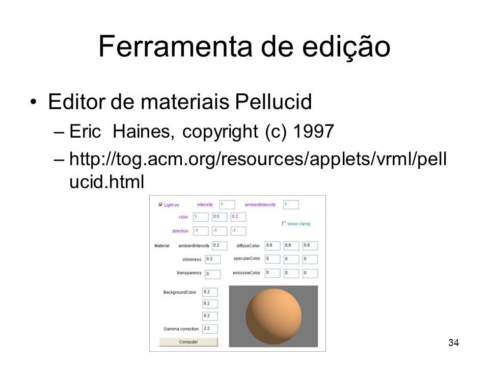 Ferramenta de edição Editor de materiais Pellucid