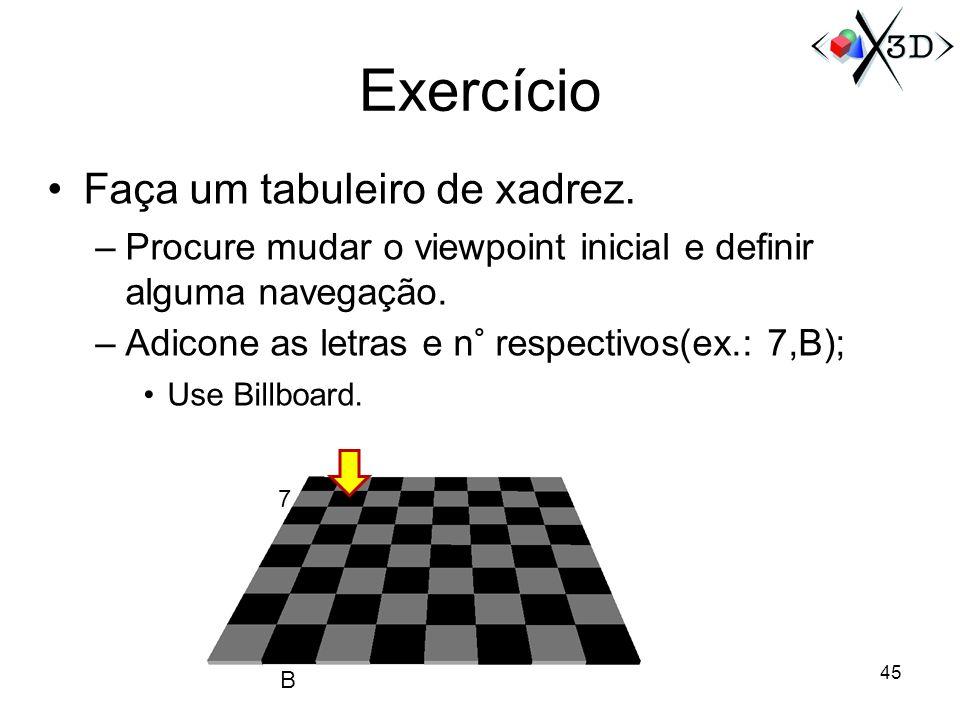 Exercício Faça um tabuleiro de xadrez.
