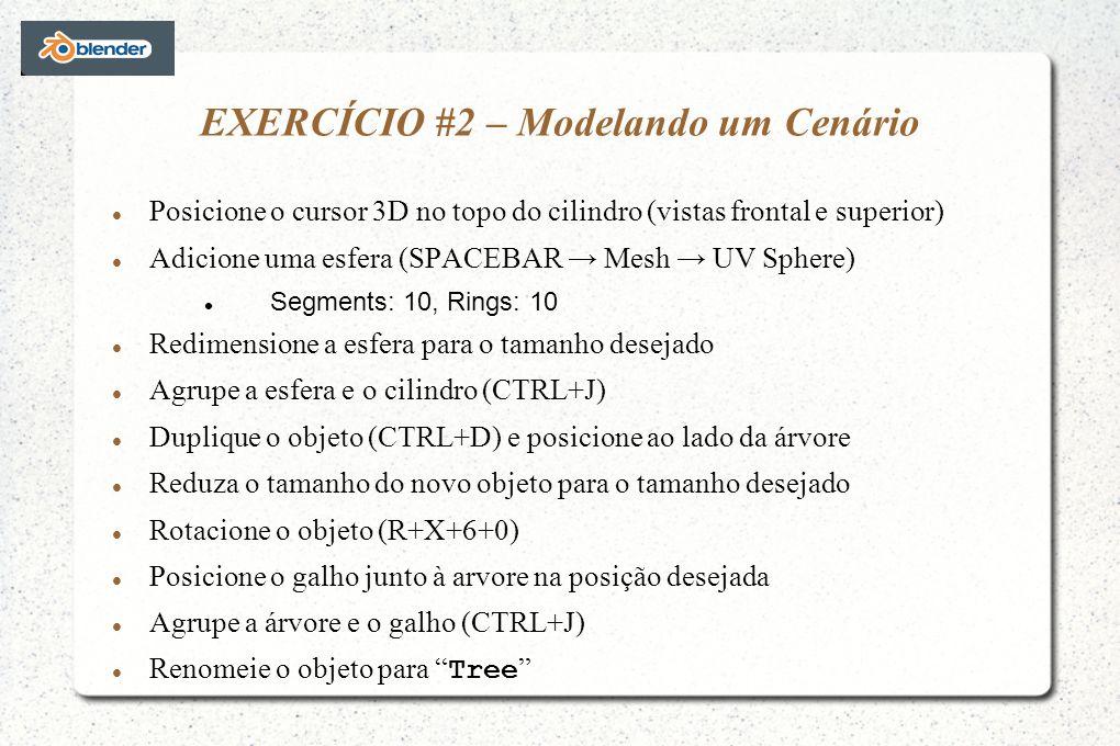 EXERCÍCIO #2 – Modelando um Cenário