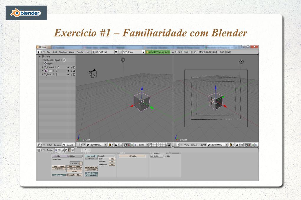 Exercício #1 – Familiaridade com Blender