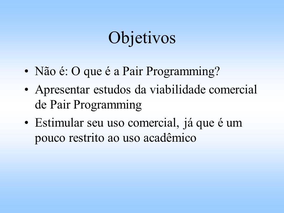 Objetivos Não é: O que é a Pair Programming