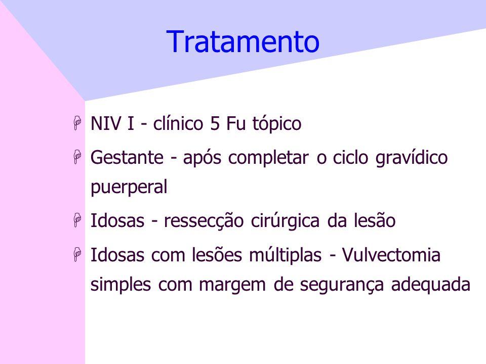Tratamento NIV I - clínico 5 Fu tópico