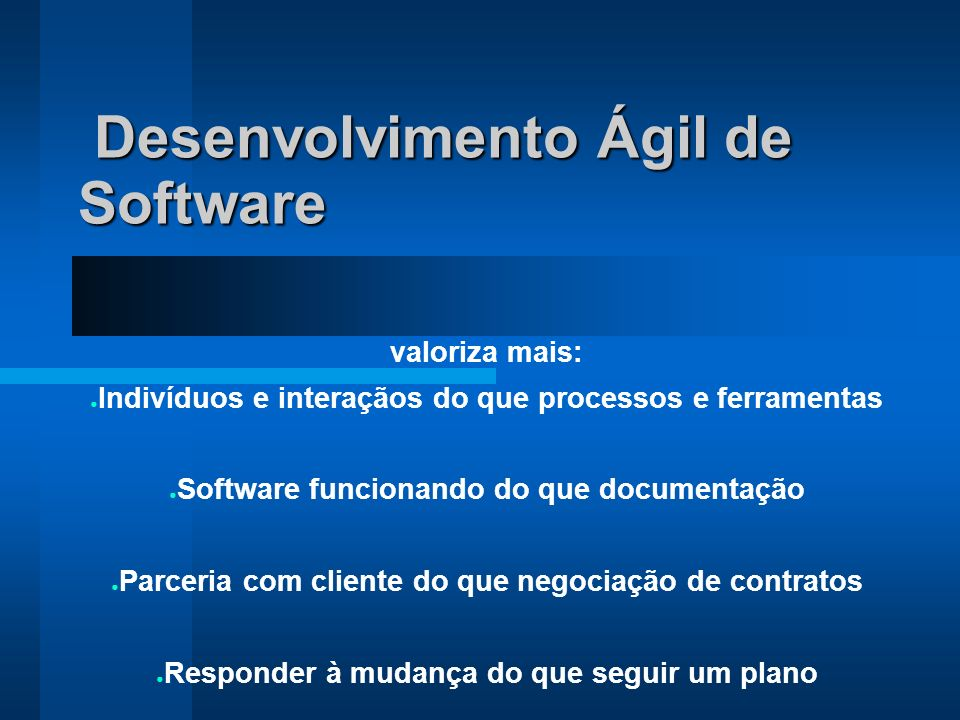 Desenvolvimento Ágil de Software