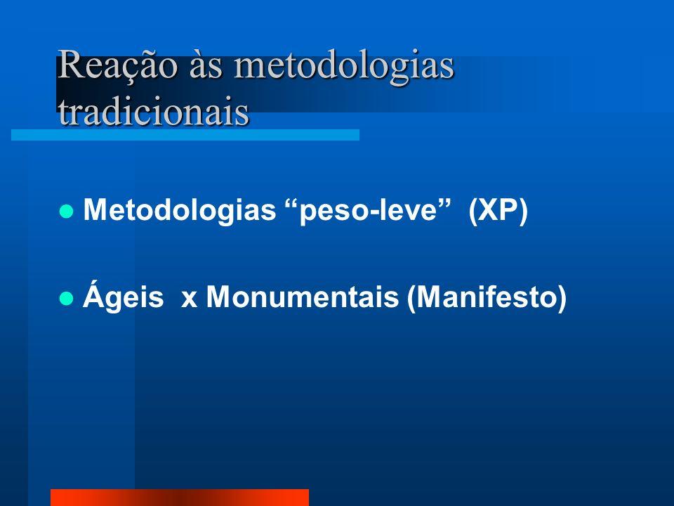 Reação às metodologias tradicionais