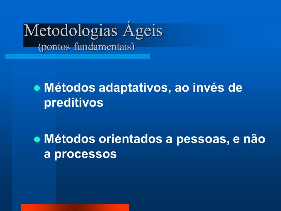 Metodologias Ágeis (pontos fundamentais)
