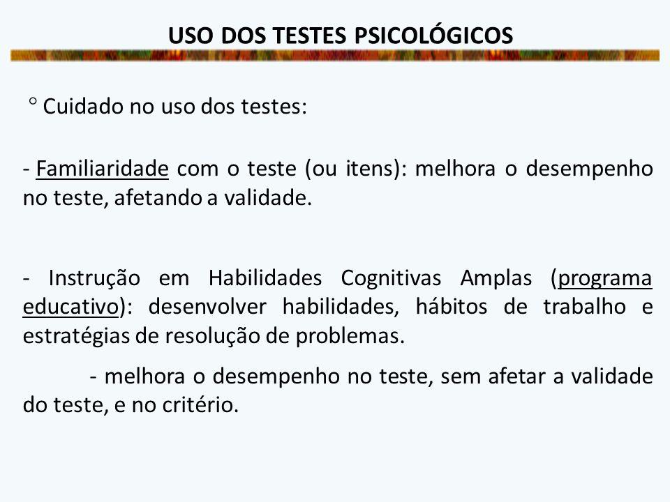 USO DOS TESTES PSICOLÓGICOS