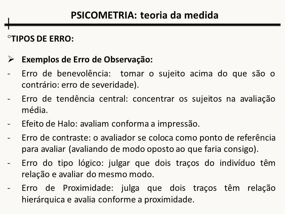 PSICOMETRIA: teoria da medida