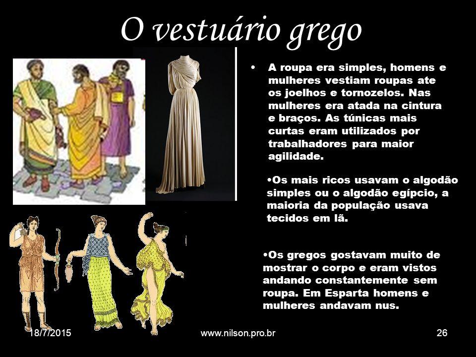 O vestuário grego