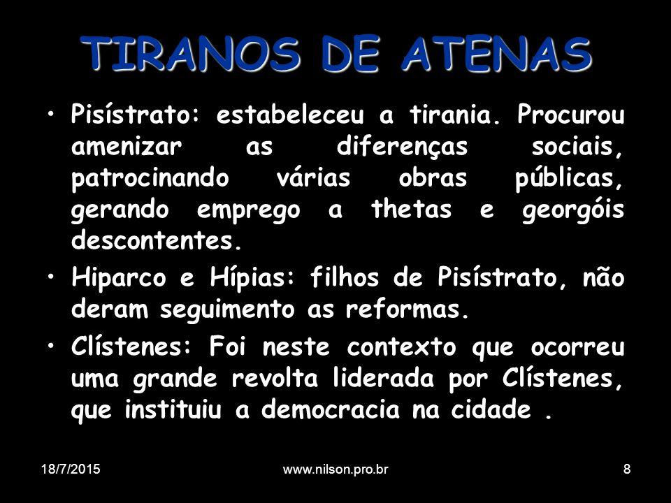 TIRANOS DE ATENAS