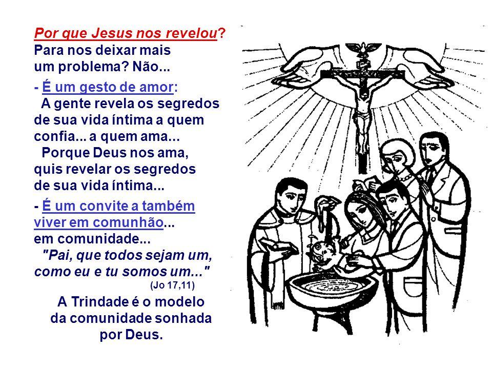 Por que Jesus nos revelou Para nos deixar mais um problema Não...