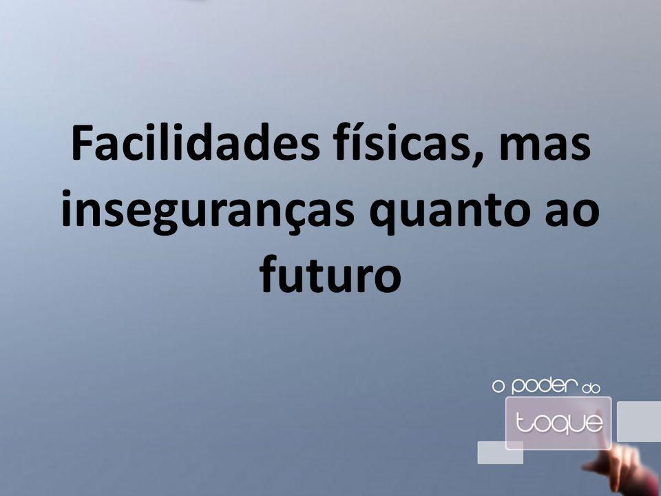 Facilidades físicas, mas inseguranças quanto ao futuro