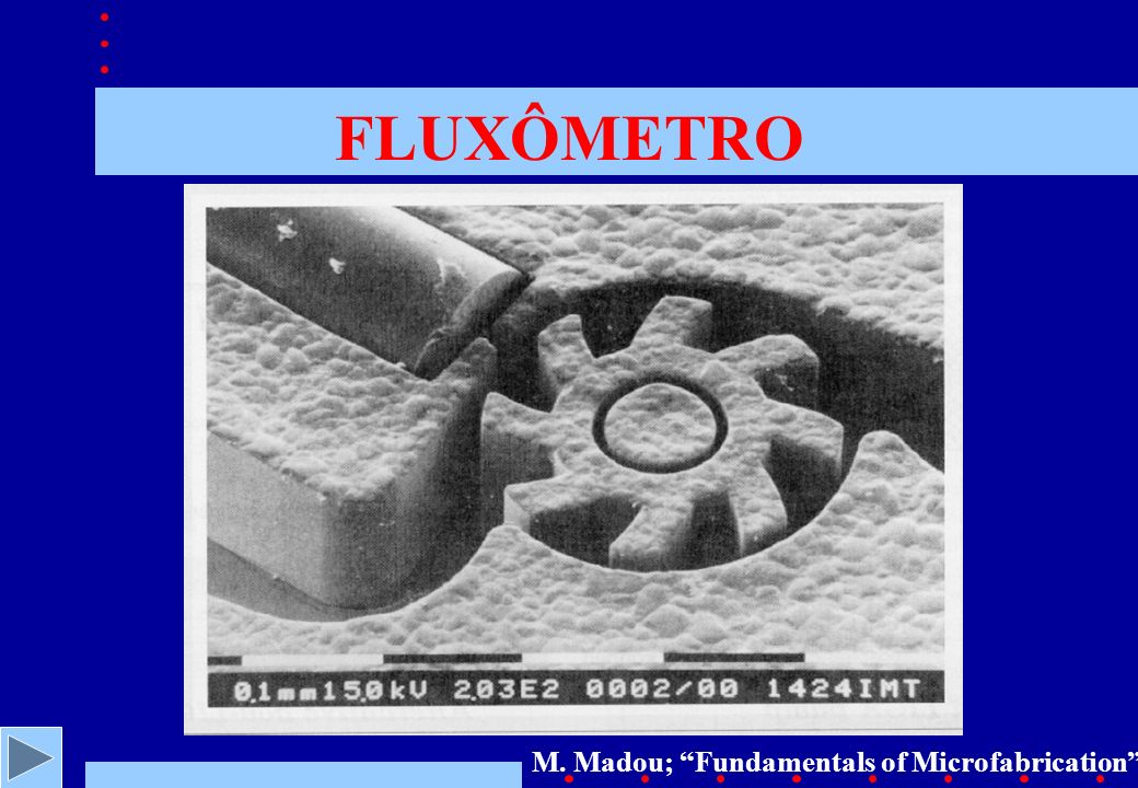 FLUXÔMETRO M. Madou; Fundamentals of Microfabrication