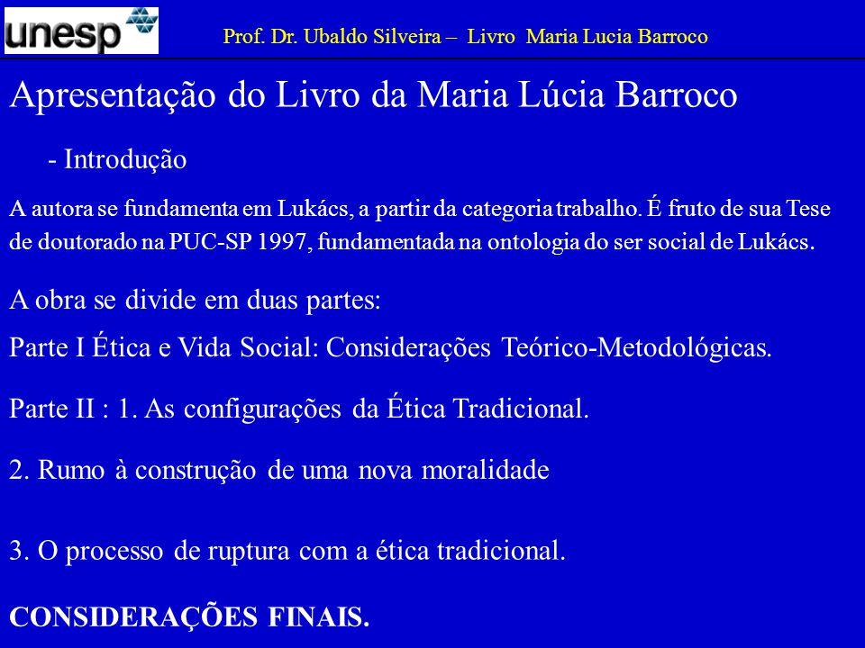 Apresentação do Livro da Maria Lúcia Barroco