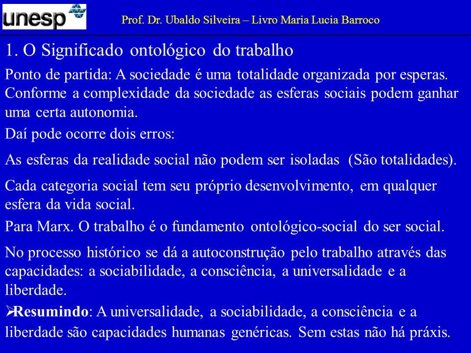 1. O Significado ontológico do trabalho