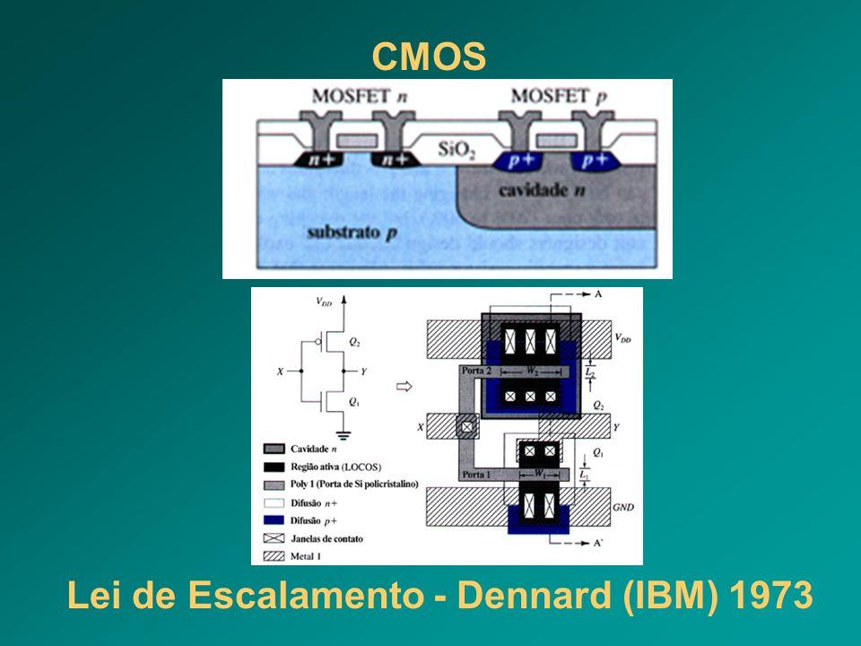 Lei de Escalamento - Dennard (IBM) 1973