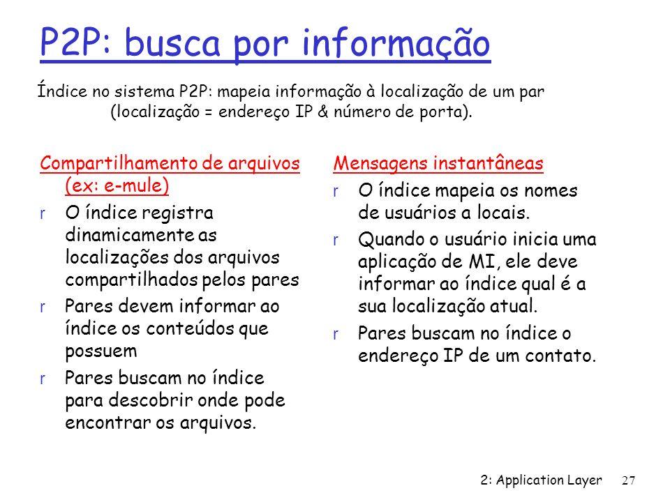 P2P: busca por informação