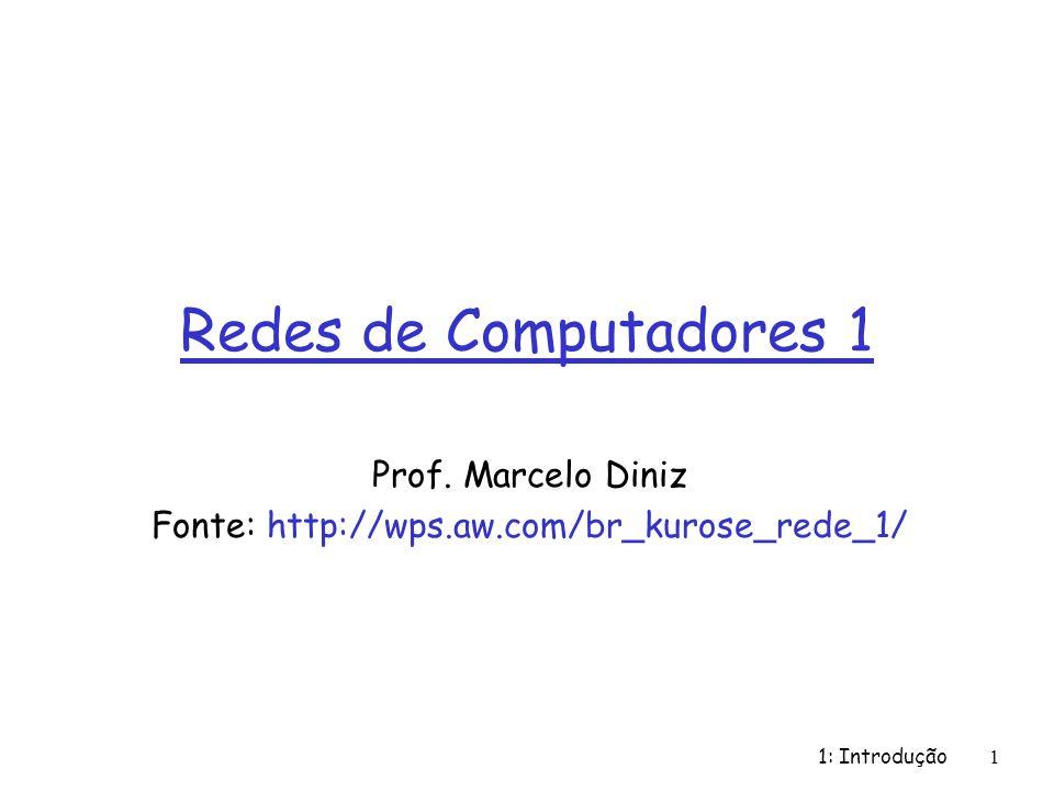 Prof. Marcelo Diniz Fonte: http://wps.aw.com/br_kurose_rede_1/