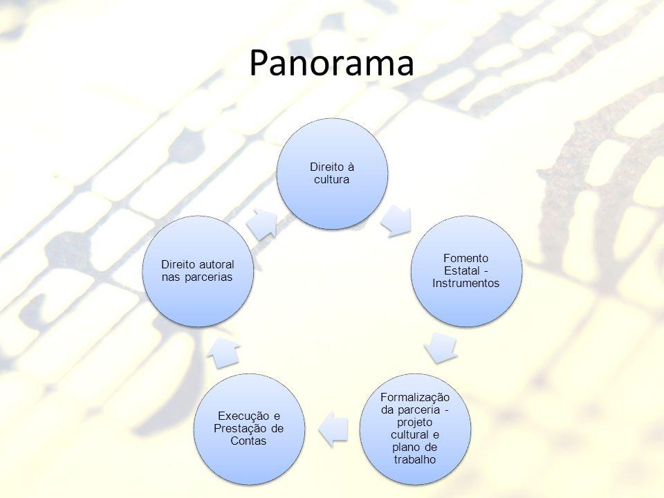 Panorama Direito à cultura Fomento Estatal - Instrumentos