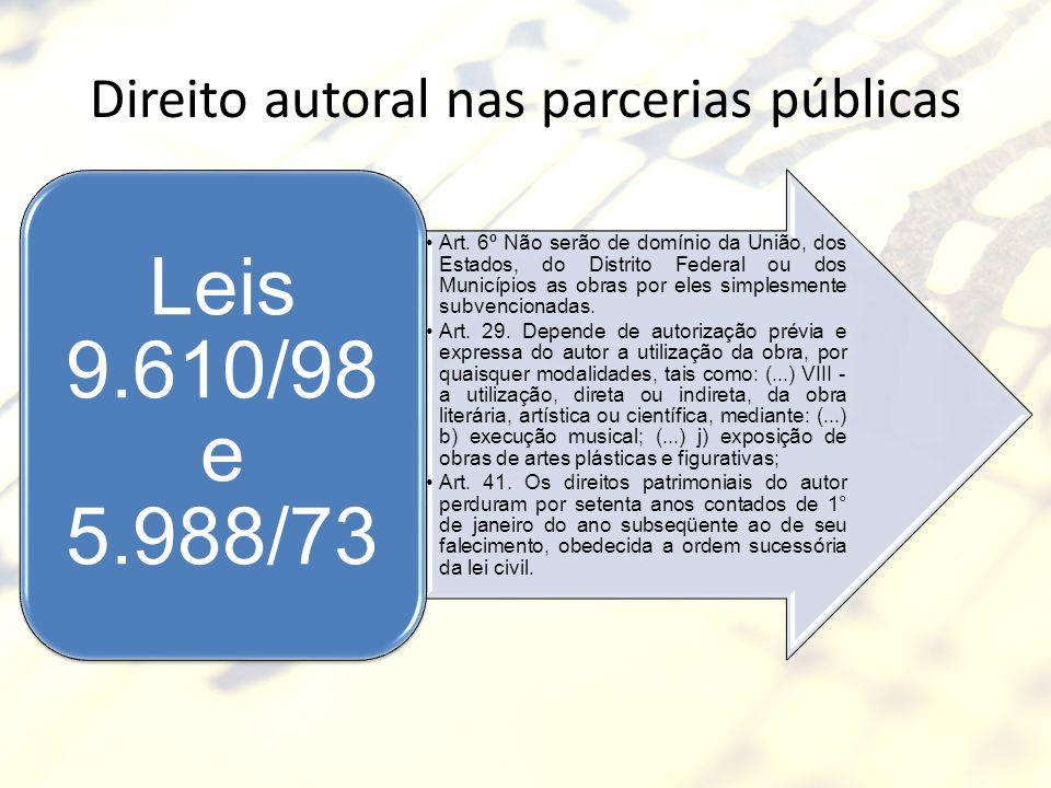 Direito autoral nas parcerias públicas