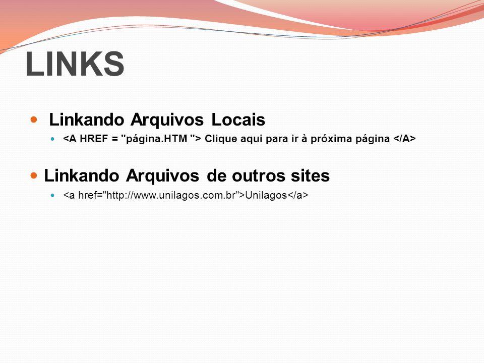 LINKS Linkando Arquivos Locais Linkando Arquivos de outros sites