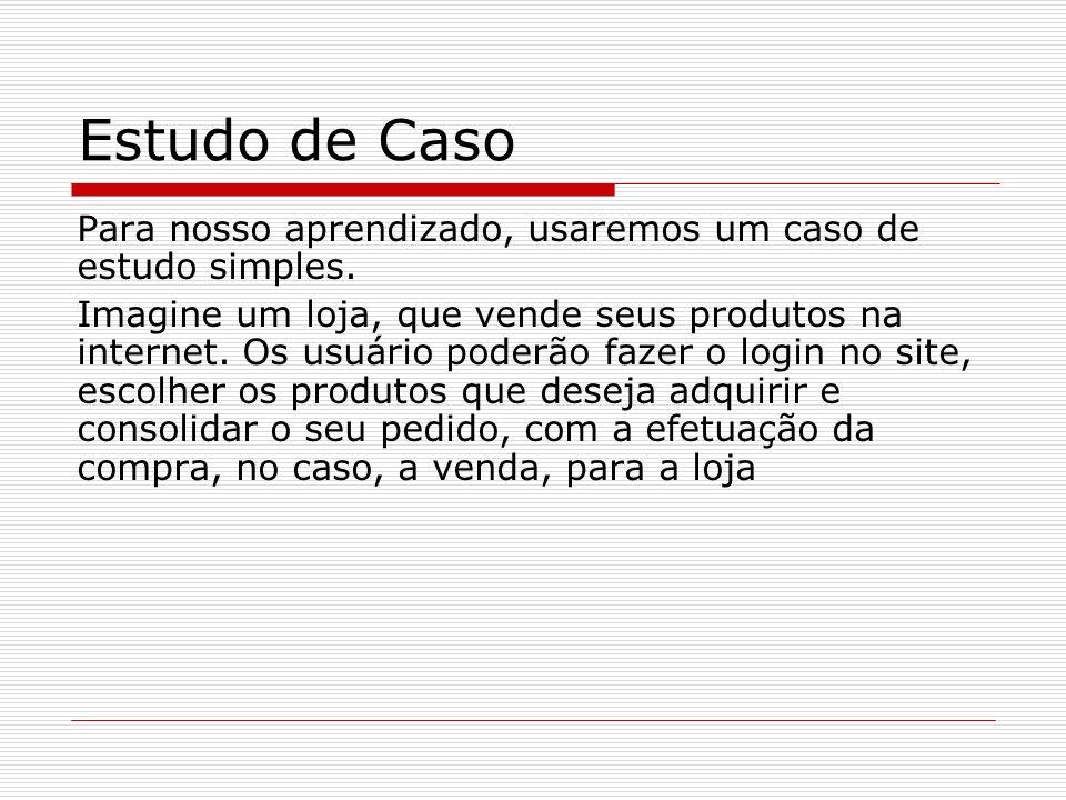 Estudo de CasoPara nosso aprendizado, usaremos um caso de estudo simples.