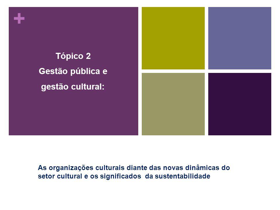 Tópico 2 Gestão pública e gestão cultural:
