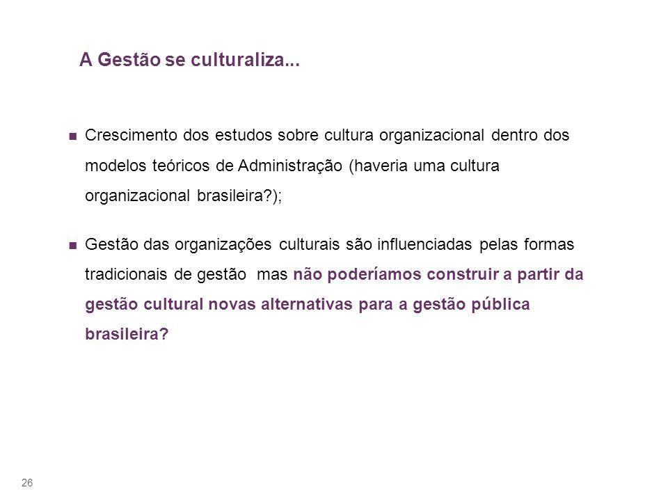 A Gestão se culturaliza...