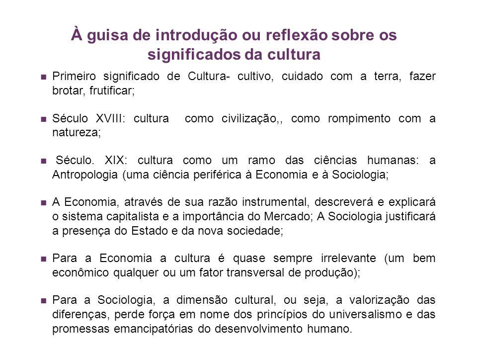 À guisa de introdução ou reflexão sobre os significados da cultura