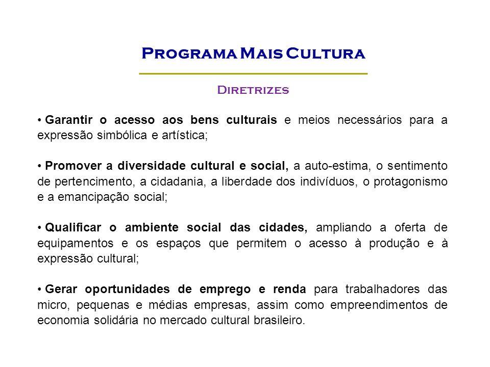 Programa Mais Cultura Diretrizes
